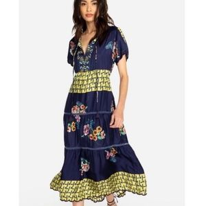 Johnny Was Blue Floral Dress NWT